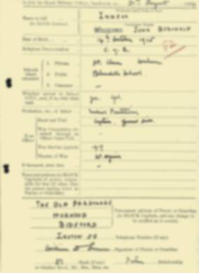 RMC Form 18A Personal Detail Sheets Aug 1934 Intake - page 114