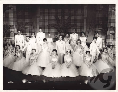 Photograph - 1959 Gaiety Whirl - cast in finale scene