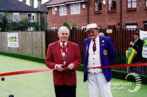 Lavender Park, Mitcham, Opening Day of artificial Bowling Green.