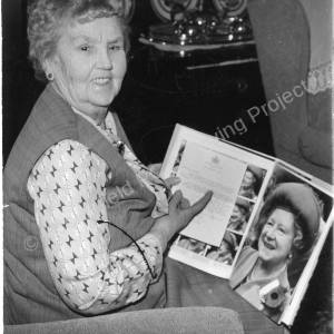 Mrs Winifred Morris in Ernest Copley House, Lane End 1986