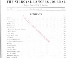 12th Lancers, 1955