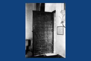 Church door of St. Mary's, Merton Park