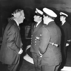 Admiral of the Fleet, Earl Mountbatten of Burma visits South Tyneside.