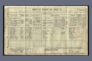 1911 Census - Alan Cottage, Wimbledon