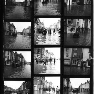 Contact sheet - floods in Herefordshire.