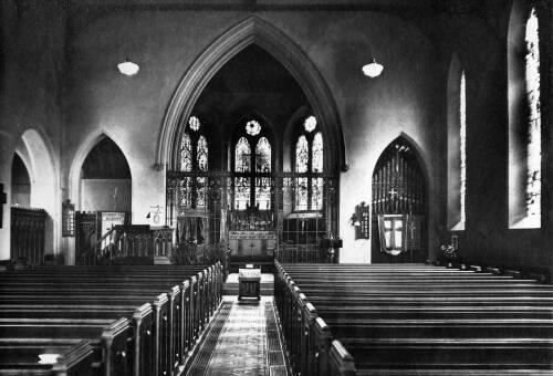 010 Scissett Church c1930 (screen erected 1910)