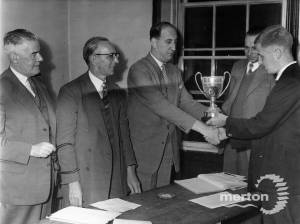 Presentation of Chess Trophy,  at Canons Mitcham