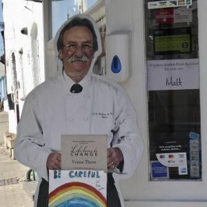 Hand sanitiser at Waller's Butcher, 71 The Homend, Ledbury
