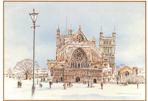RAMM Christmas card, c1990, Exeter Cathedral