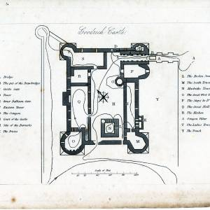 Goodrich Castle, layout map