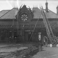 Bomb Damage to the Railway Station, Mile End Road