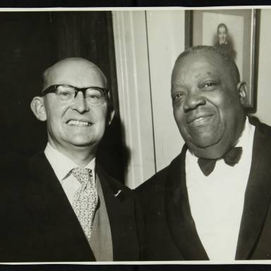 George Webb and Jimmy Rushing (left to right)