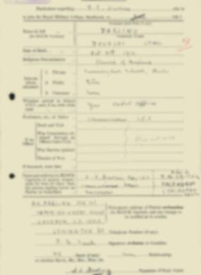 RMC Form 18A Personal Detail Sheets Feb & Sept 1933 Intake - page 37