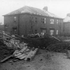 Bomb Damage to Deans Crescent