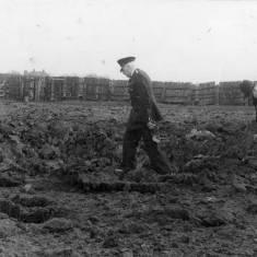 Bomb Crater in field, Simonside