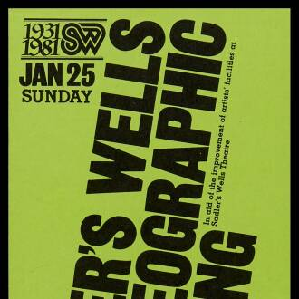 Sadler's Wells Theatre, London, January 1981