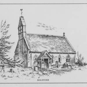 Bolstone Church, Herefordshire, print by T Rafles