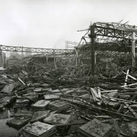 Carolina Street goods warehouse, bomb damage, Blitz