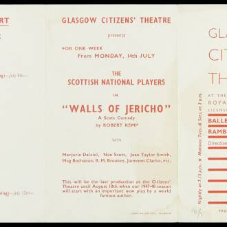 Royal Princess's Theatre, Glasgow, July 1947