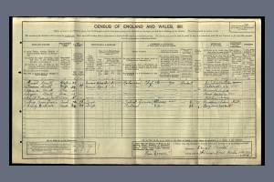 1911 Census for 70 Denison Road, Colliers Wood