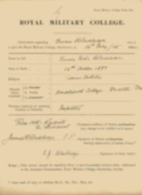 RMC Form 18A Personal Detail Sheets May 1915 Intake - page 17