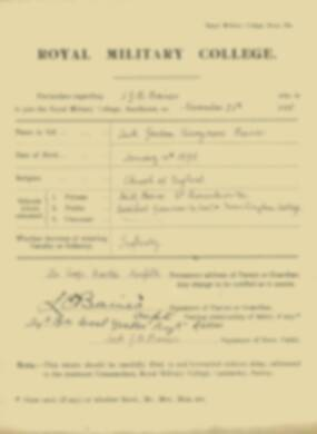 RMC Form 18A Personal Detail Sheets Nov 1915 Intake - page 4