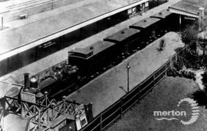 Train in Wimbledon Station