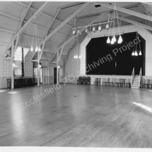 Newton Hall, ballroom and stage.