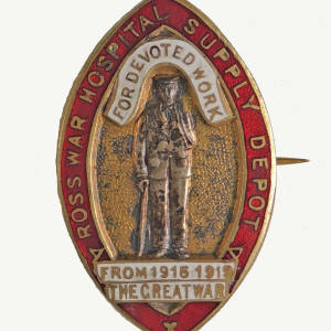 Ross Hospital Supply Depot Badge, c.1919