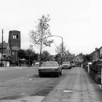 Harris Drive, Litherland, 1987, Tower of St. Robert Bellarmine Church