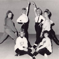 Photograph - group of unknown female dancers