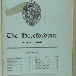 The Herefordian No 76_July 1914