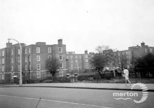 High Path estate, Merton: View from London Road