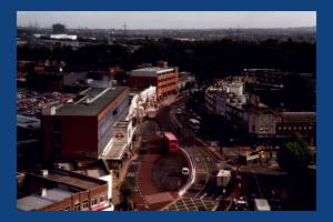 London Road, Morden: Tube Station Aerial View