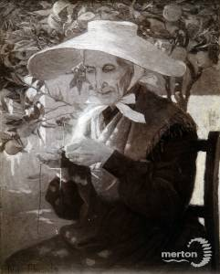 "Lilian Edmonds: Painting titled ""An Old Peasant of Provence"""