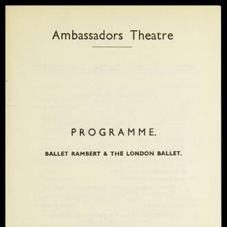 Ambassadors Theatre, London, February 1941