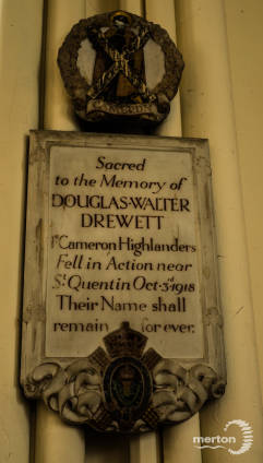 Memorial Plaque - Douglas Walter Drewett