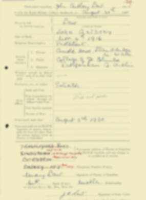 RMC Form 18A Personal Detail Sheets Aug 1935 Intake - page 129