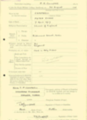 RMC Form 18A Personal Detail Sheets Aug 1935 Intake - page 39