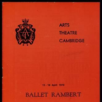 Arts Theatre Cambridge, April 1970