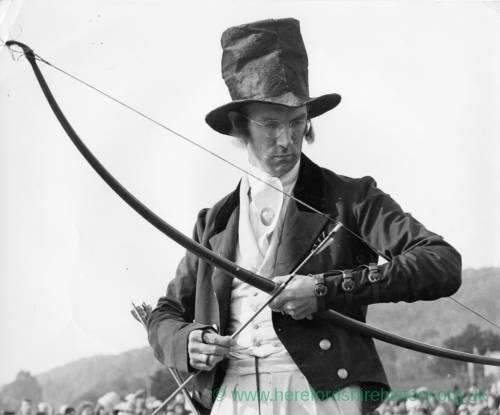 Archer in period costume