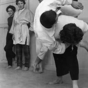 A judo class.