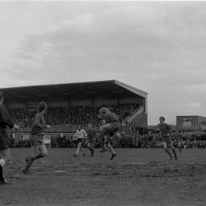 Action from the Hereford United v Newcastle game, Feb 1972.