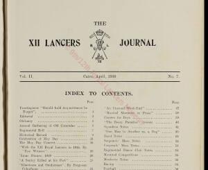 12th Lancers, 1930 April