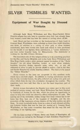 Silver Thimble Leaflet