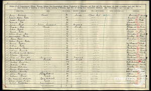 1911 Census - Isle of Wight Barracks