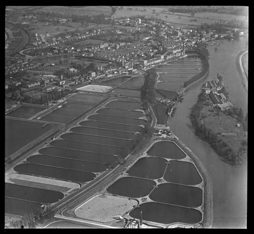 Aerial view of Hampton from the south west