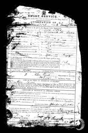 Enlistment Paper - Alec Bond