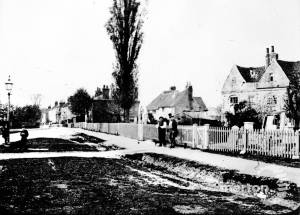 Vine House: View towards Church Lane, Mitcham