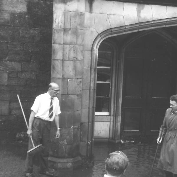 Flooding outside Pinkie house circa 1965